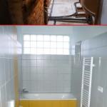Před a po rekonstrukci 4 - koupelna